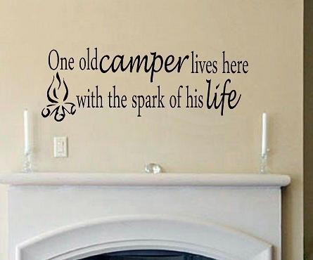 One old camper lives here with the spark of his life