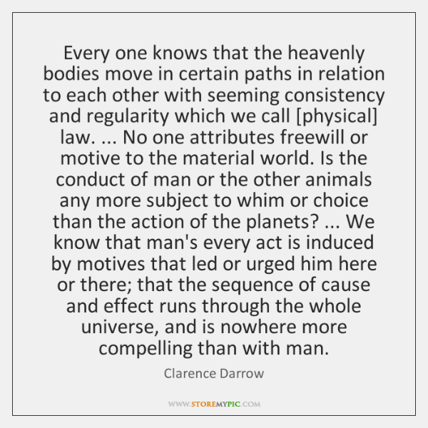 Every one knows that the heavenly bodies move in certain paths in ...