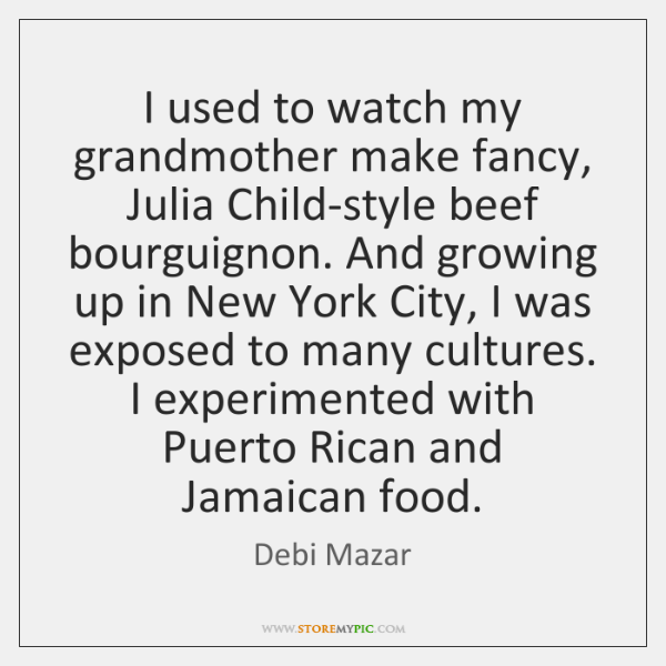 I used to watch my grandmother make fancy, Julia Child-style beef bourguignon. ...