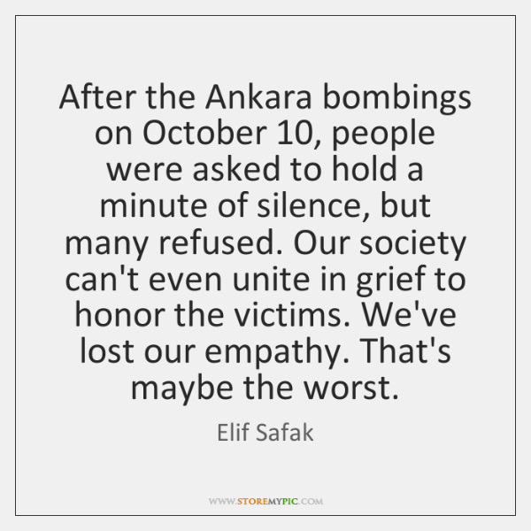 After the Ankara bombings on October 10, people were asked to hold a ...