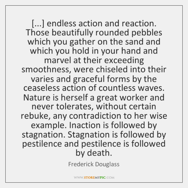 [...] endless action and reaction. Those beautifully rounded pebbles which you gather on ...