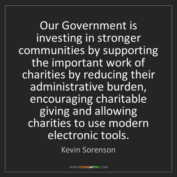 Kevin Sorenson: Our Government is investing in stronger communities by...