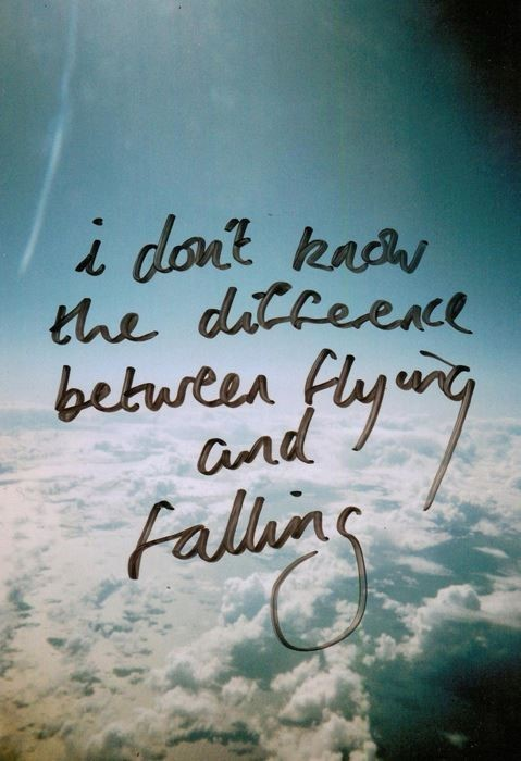 I dont reach the difference between flying and falling