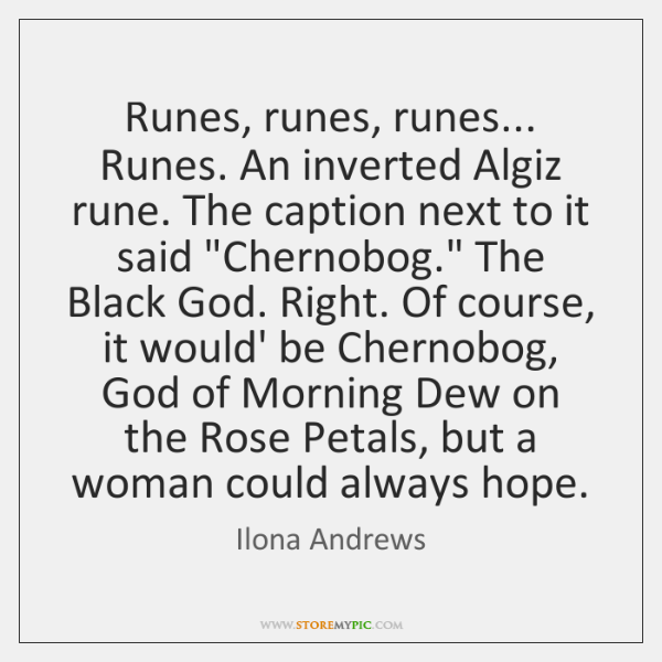 Runes, runes, runes... Runes. An inverted Algiz rune. The caption next to ...
