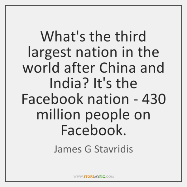 What's the third largest nation in the world after China and India? ...