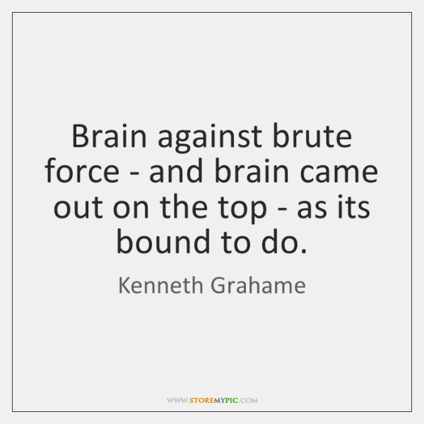 Brain against brute force - and brain came out on the top ...