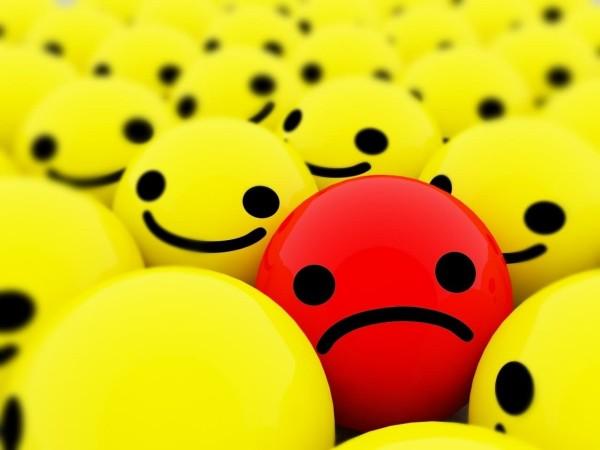 Sad emoticon ball in smileys