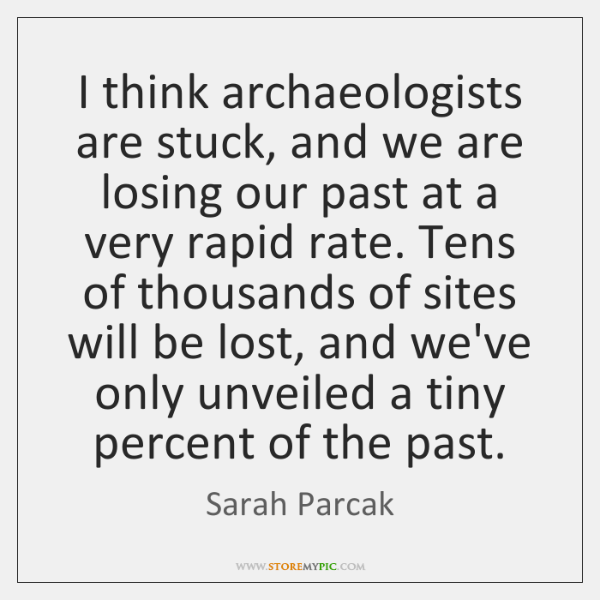 I think archaeologists are stuck, and we are losing our past at ...