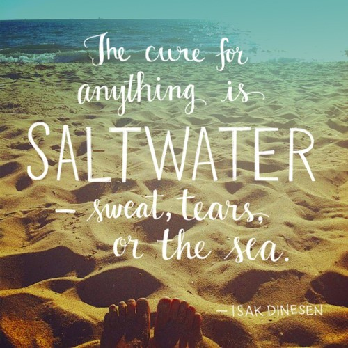 The cure for anything is salt water sweat tears or the sea 001