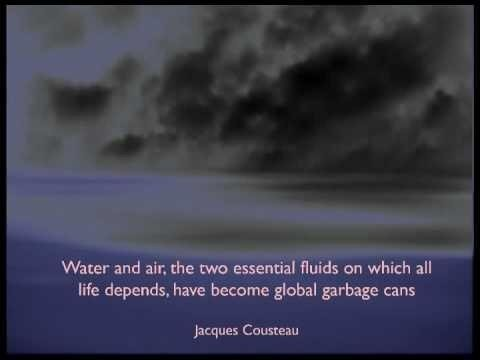 Water and air the two essential fluids on which all life depends have become global garbage cans