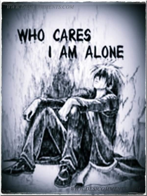 Who cares i am alone sad animated