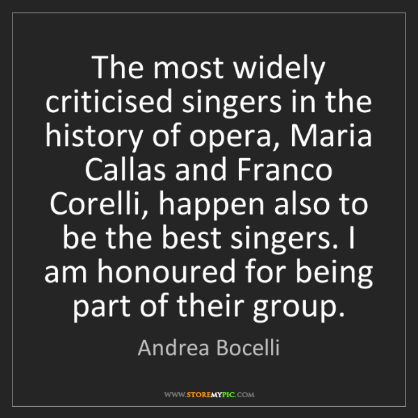 Andrea Bocelli: The most widely criticised singers in the history of...