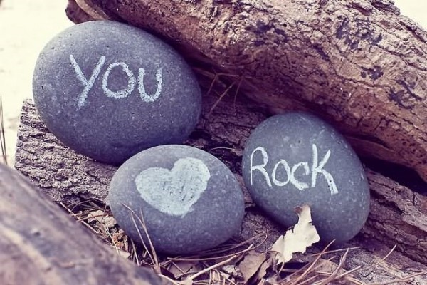 You rock on stone heart