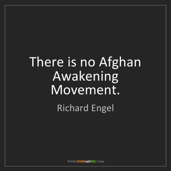 Richard Engel: There is no Afghan Awakening Movement.