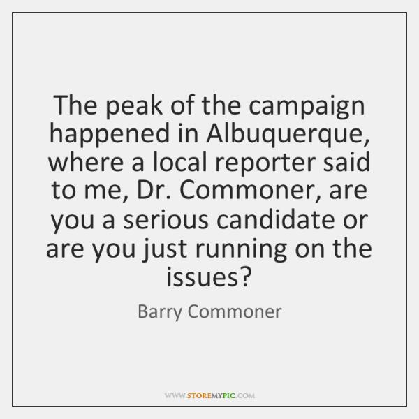 The peak of the campaign happened in Albuquerque, where a local reporter ...