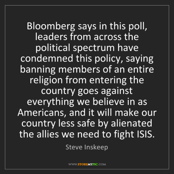 Steve Inskeep: Bloomberg says in this poll, leaders from across the...