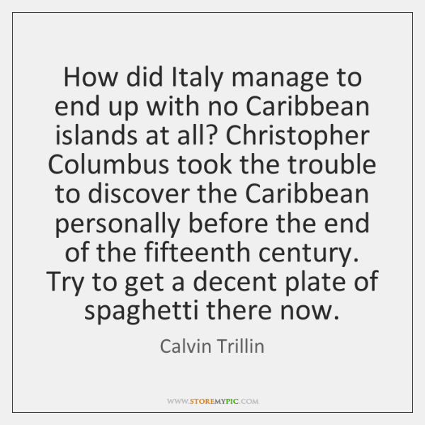 How did Italy manage to end up with no Caribbean islands at ...