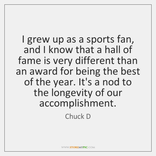 I grew up as a sports fan, and I know that a ...