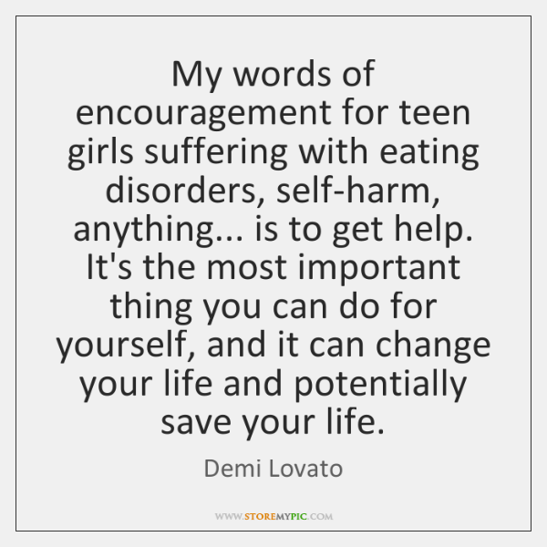 My Words Of Encouragement For Teen Girls Suffering With Eating