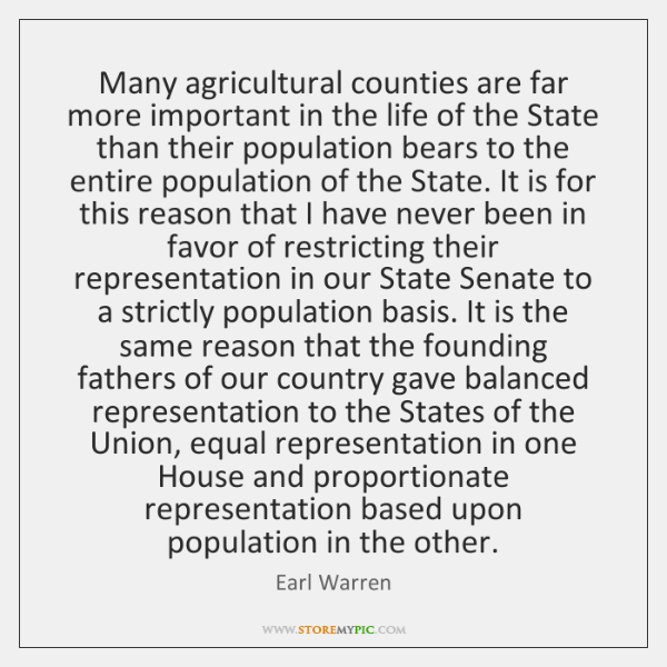 Many agricultural counties are far more important in the life of the ...