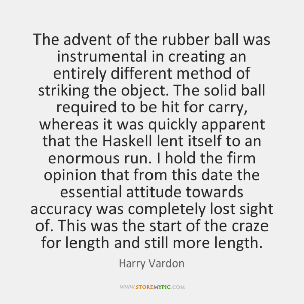 The advent of the rubber ball was instrumental in creating an entirely ...