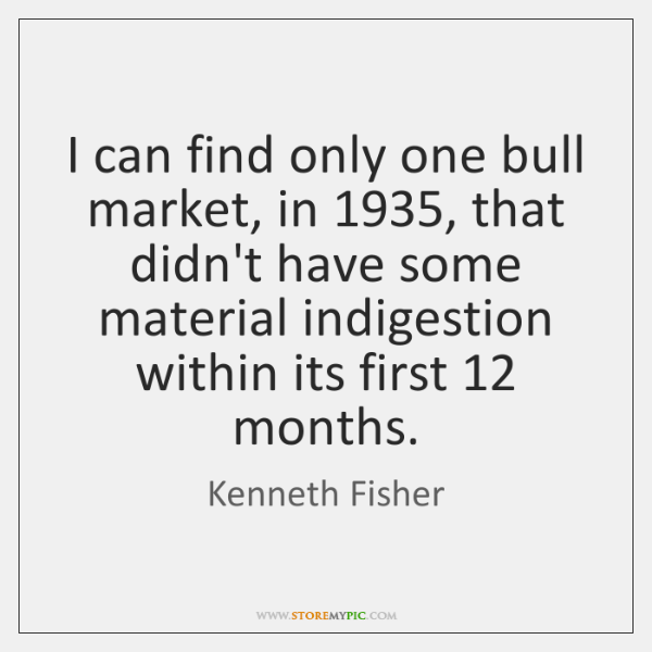 I can find only one bull market, in 1935, that didn't have some ...