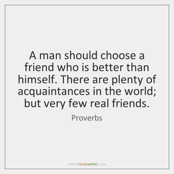 choose a real friend