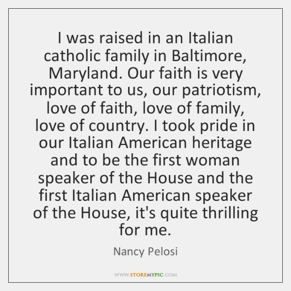 I was raised in an Italian catholic family in Baltimore, Maryland. Our ...