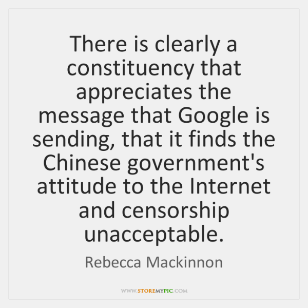 There is clearly a constituency that appreciates the message that Google is ...