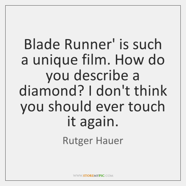 Blade Runner' is such a unique film. How do you describe a ...