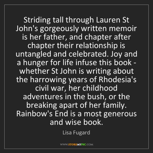 Lisa Fugard: Striding tall through Lauren St John's gorgeously written...