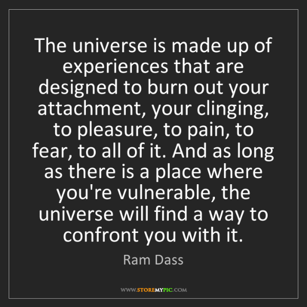 Ram Dass: The universe is made up of experiences that are designed...