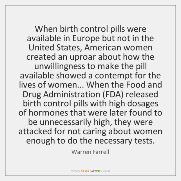When birth control pills were available in Europe but not in the ...