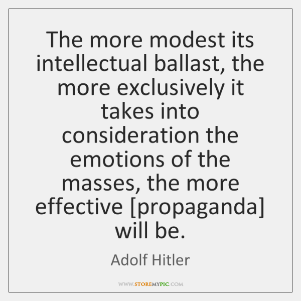 The more modest its intellectual ballast, the more exclusively it takes into ...