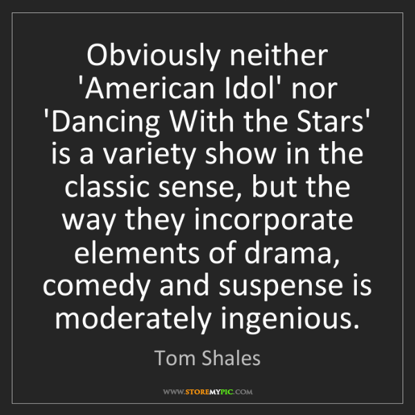Tom Shales: Obviously neither 'American Idol' nor 'Dancing With the...