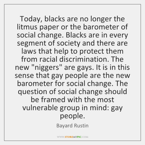 Today, blacks are no longer the litmus paper or the barometer of ...