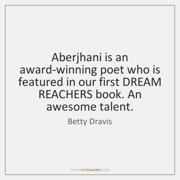Aberjhani is an award-winning poet who is featured in our first DREAM ...
