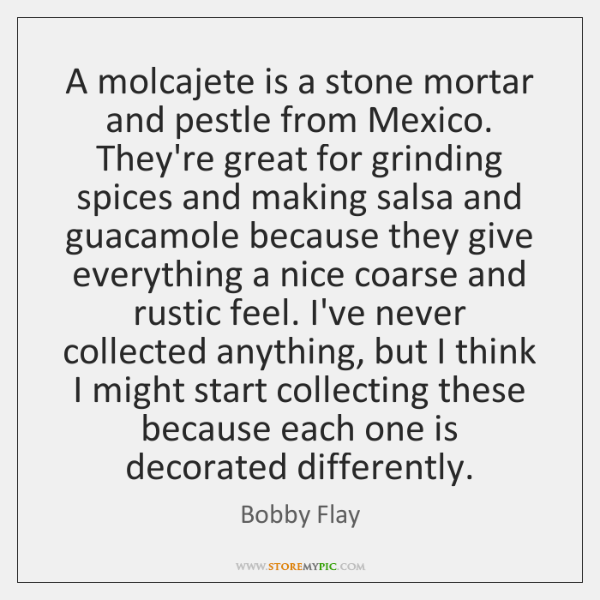A molcajete is a stone mortar and pestle from Mexico. They're great ...