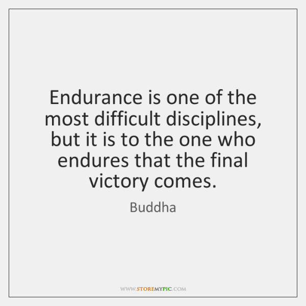Endurance is one of the most difficult disciplines, but it is to ...