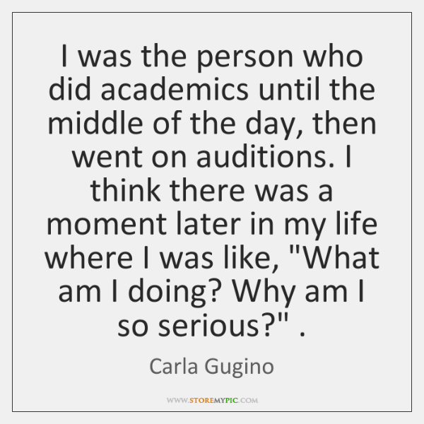 I was the person who did academics until the middle of the ...