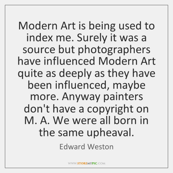 Modern Art is being used to index me. Surely it was a ...