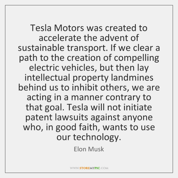 Tesla Motors was created to accelerate the advent of sustainable transport. If ...