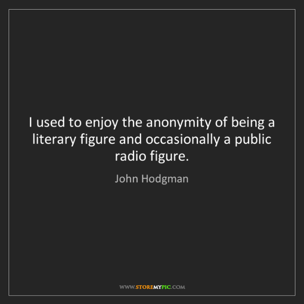 John Hodgman: I used to enjoy the anonymity of being a literary figure...
