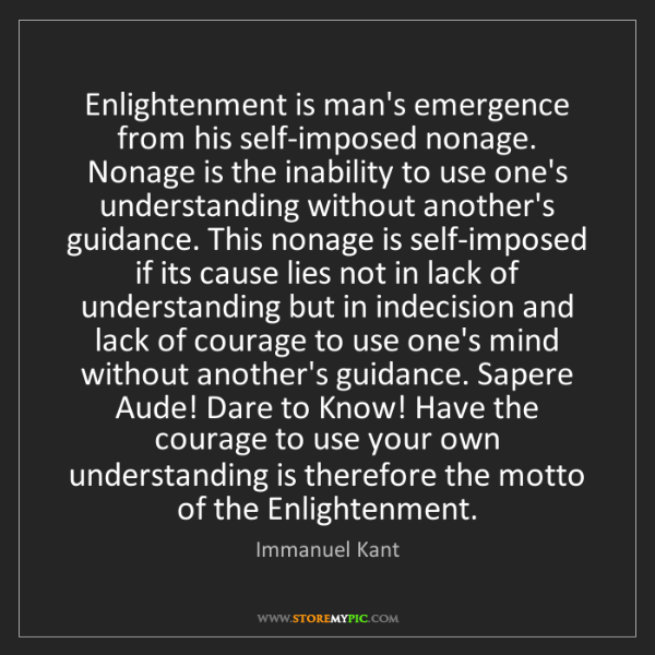 immanuel kant the enlightenment
