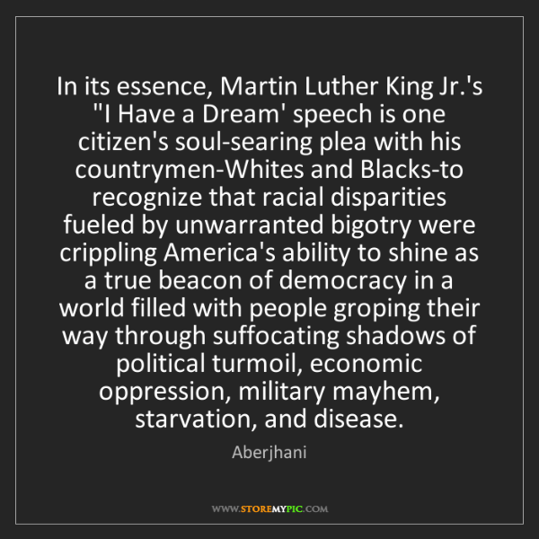 """Aberjhani: In its essence, Martin Luther King Jr.'s """"I Have a Dream'..."""