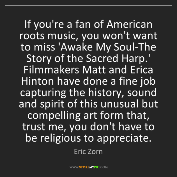 Eric Zorn: If you're a fan of American roots music, you won't want...