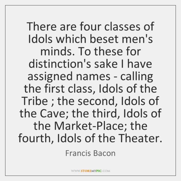 francis bacon idols of the mind