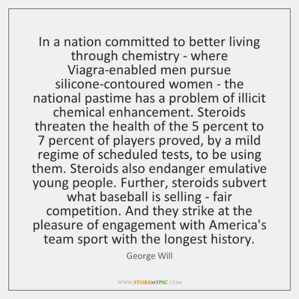 In a nation committed to better living through chemistry - where Viagra-enabled ...