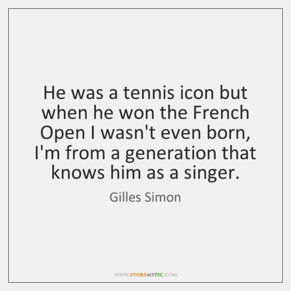 He was a tennis icon but when he won the French Open ...