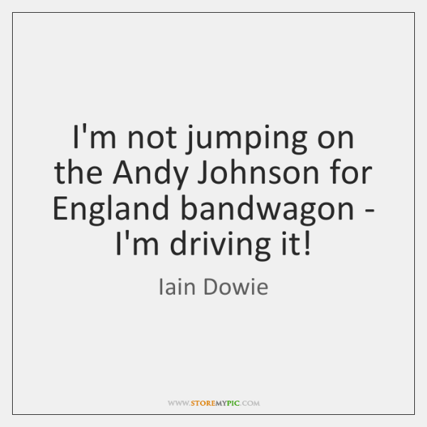 I'm not jumping on the Andy Johnson for England bandwagon - I'm ...
